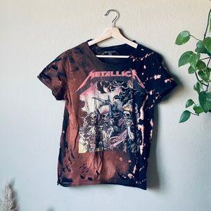 Bleached Metallica t-shirt